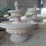 Fuente de agua decorativa modificada para requisitos particulares de la piedra del granito del jardín al aire libre de los ornamentos