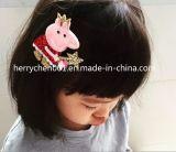 Flor del pelo de la tela con el clip de los 4.2cm, No. 17005
