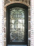 Custom Hand-Forge Forjado Iron Single Exterior Door