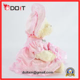 Jouet en peluche de bonnet de fille de 25 cm avec jupe rose