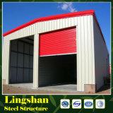 Casa prefabricada que construye una casa del acero del calibrador de la luz de la estructura del hierro de la vertiente del acero