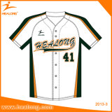 Camisas em branco de Jersey do basebol do Raglan do colar do Grandad de Healong