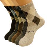 Mann-Kaninchen-Wolle-Geschäft Argyle beiläufiges Kleid-Socken
