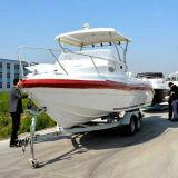 barco do cruzador de cabine da fibra de vidro de 20FT