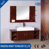 ミラーが付いている現代デザイン壁の純木の浴室用キャビネット