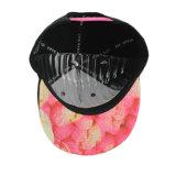 6 casquillos del Snapback del panel con bordado colorido ponen letras a insignia