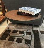 Metallrahmen-Großverkauf-sauberer Tee-Tisch-Kaffeetisch mit festem Holz 1set 3PCS