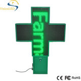 Diodo emissor de luz ao ar livre Pharmacy Cross Sign de 100cm Green para Advertizing P20