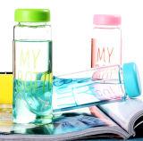 Fles van het Water van het Glas Borosilicate van het Ontwerp van de manier de Veelkleurige