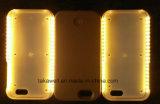 Neuer heißer LuxuxLuminated LED Telefon-Kasten mit Selfie PC harter Kasten-Energien-Bank für iPhone 6 Handy-Deckel-Fall