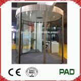 Porte coulissante incurvée populaire pour le centre d'exposition de côté