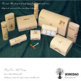 Rectángulo de regalo natural de madera redondo de boda del color de la corteza de Hongdao para el actual _E del precio bajo
