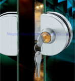 Fechamento central do cilindro do dobro da porta dobro de fechamento de porta do vidro de deslizamento de Dimon com botão (DM-DS 65-2B)