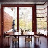 Da cereja padrão da madeira contínua de Médio Oriente porta de alumínio de madeira (FT-D126)