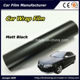 Coche negro de Matt del vinilo auto-adhesivo que envuelve la película del vinilo, película de la etiqueta engomada del coche del abrigo del vinilo de Matt del coche