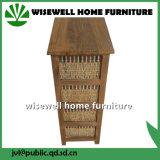 Gabinete de madeira da sala de visitas com a gaveta do Rattan 4 (W-CB-429)