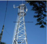 Torre de telecomunicação de aço de ângulo de auto-suporte