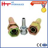 (20591) 90 degrés de garnitures d'approvisionnement hydraulique femelle métrique d'usine d'embout de durites hydraulique