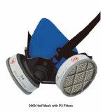 Mascherina di polvere mezza con il doppio certificato del Ce del filtrante delle cartucce