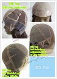 "Cabelo humano Sheitels injetado parte superior Wigs-22 Kosher de 100% """