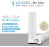 filtro de agua 3stages/purificador con ultra la vela de filtro/los cartuchos de filtro nanos de la energía/del carbón