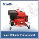 bewegliche Motor-Vakuum-/Abgas-Grundieren-Feuer-Wasser-Pumpe des Benzin-11HP