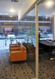 Paredes de vidro de alumínio de madeira modernas para o escritório