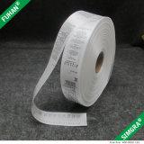 Etiquetas de instruções de lavagem da tela feita sob encomenda do cetim do poliéster da impressão