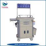 Krankenhaus-Gebrauch-Emergency medizinische Möbel-Krankenpflege-Anästhesie-Laufkatze