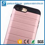 De mobiele Bijkomende Gouden Dekking van het Geval van de Telefoon van de Doos Koreaanse met Tribune voor de Rand van Samsung S7/S7