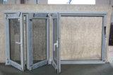 De alta calidad de la rotura térmica de aluminio plegable 3 marcos de ventana K07007