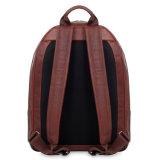 Sac à dos en cuir réel brun-rougeâtre d'ordinateur portatif de modèle dernier cri pour l'école