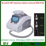 2017 preço elevado da máquina da remoção do tatuagem do laser do ND YAG do interruptor da durabilidade Q