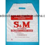HDPEの白い印刷されたプラスチックショッピング・バッグ