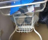 GroßhandelsEdelstahl-Krankenhaus-Säuglingsbett/Krippe-Laufkatze mit Fächern