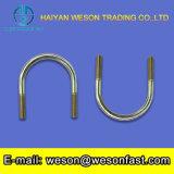 Boulon en U avec la plaque Nuts et avant faite par l'acier du carbone ou l'acier inoxydable 304/316