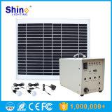 sistema del panel solar de 50W 40W 30W 10W 5W con el bulbo