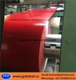 Bobina de acero galvanizada prepintada popular roja de la bobina PPGI de la INMERSIÓN caliente
