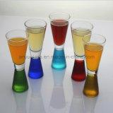 Vidrios coloridos de Martini, vidrios de coctel, taza del vidrio de vino y taza