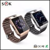 2017 Nouvelle montre intelligente Dz09 avec caméra, montre-bracelet Bluetooth Carte SIM Smartwatch pour téléphones Android Ios Support Multi Languages