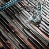 De Tegels van de Muur van het Mozaïek van het Glas van de Vlotter van het kristal
