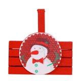 Cesta de madera del caramelo de la Navidad para la decoración de la Navidad y regalo en existencias