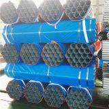 Tubo galvanizado sumergido caliente de BS1387 ASTM A53 con los casquillos del extremo roscado y del plástico
