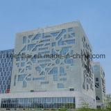 Здание архитектурноакустического вырезывания лазера внешнее обшивает панелями алюминиевую ненесущую стену