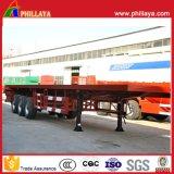 De la Chine 20FT 40FT de conteneur de transport de camion remorque à plat semi
