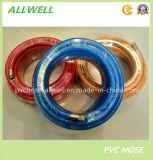 Труба шланга брызга воздуха давления PVC голубая пластичная высокая