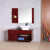 Cabinet de salle de bain en bois moulé neuf avec bassin en céramique