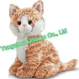 Il CE scherza il gatto molle del giocattolo della peluche del leopardo dell'animale farcito del regalo
