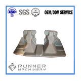 Pièces de bâti en métal de moulage au sable d'OEM en aluminium pour des machines