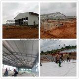 Atelier léger préfabriqué de structure métallique construisant en Angola